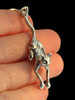 Cat - Crawling Cat Pendant - Silver