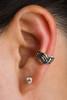 Nouveau Swirl Ear Cuff in Silver