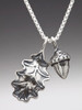 Oak Leaf and Acorn Charms in Silver