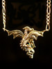 Dragon In Flight  Pendant with Tourmaline