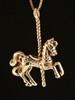 Carousel Horse Pendant in 14K Gold