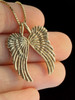Gold Guardian Angel Wing Pendant - 14k Gold