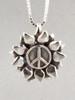 Flower Power Peace Symbol Charm