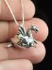 Small Hatching Dragon Charm - Silver