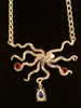 Gold Octopus with Jeweled Treasures in 14k Gold