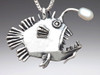 Angler Fish with White Pearl