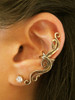French Twist Ear Cuff in Bronze