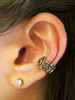 Rose Ear Cuff in Bronze