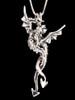 Dragon Desire Pendant - Two Piece Pendant Silver