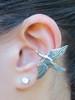 Mocking Jay Ear Cuff in Silver