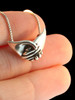 Clasping Hands Pendant in Silver