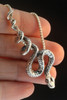 Python Snake Pendant - Silver