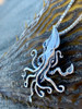 Kraken Squid Pendant on Seaweed