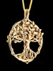 Circle of Life Tree Pendant - 14k Gold