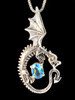 Oracle Dragon with Blue Topaz