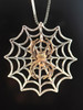 Bronze Orb Spider With Silver Spider Web Without Chained Spider