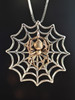 Bronze Black With Silver Spider Web Without Chained Spider