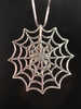 Back of Silver Black Widow Spider on Silver Spider Web