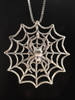 Silver Orb Spider Charm on Silver Spider Web Charm