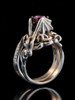 Cloud Dragon Ring Silver with Amethyst