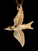 Bronze Mocking Jay Pendant