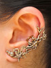 Poseidon's Gift - Octopus and Sea Star Ear Cuff - Bronze