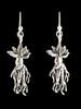 Mandrake Root Earrings in Silver