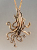 Bronze Kraken Squid Pendant