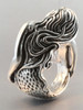 Siren's Song Mermaid Ring - Silver