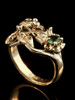 Frog Lily Pad Ring 14k Gold with Tsavorite