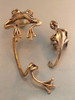 EAR CUFF SPECIAL Frog and Gecko Ear Cuff Combo Bronze - Buy 2 Get 1 Ear Cuff Free
