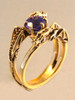 Double Dragon Eternity Ring 14k Gold with 1 ct Tanzanite