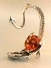 Throne Dragon Ear Wrap with Pear Shaped Citrine - Silver