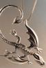 Balerion Dragon Pendant - Silver