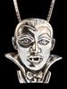 Dracula Vampire Pendant - Silver