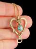 Viper Valentine with Blue Zircon in 14k Gold
