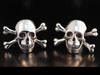 Large Sterling Silver Cuff Links