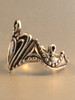 Crowning Heart Ring - Silver