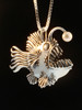 Large Angler Fish Pendant with White Pearl Lure