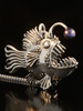 Large Angler Fish Pendant with Black Pearl Lure