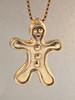 Christmas - Ginger Bread Man Charm - 14k Gold