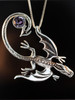 Balerion Dragon Pendant with Checkerboard Amethyst