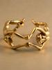 solid 14k gold lovers ear hoop
