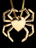 Gold Spider Heart Pendant - 14K Gold