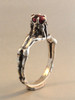 Crowning Lovers Ring with Garnet