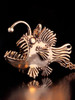 Large Bronze Angler Fish Pendant