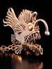 Large Bronze Angler Fish Pendant