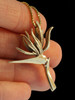 Bird of Paradise Flower Pendant - 14k Gold
