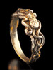 14K gold tentacle twist octopus ring, commitment ring, wedding ring