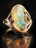 Rainbow Prism - Mexican Opal Ring - SOLD